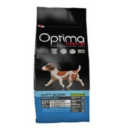 OPTIMANOVA PUPPY MEDIUM CHIKEN & RICE CON CARNE FRESCA