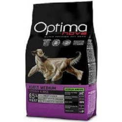 OPTIMA NOVA ADULT MEDIUM CHICKEN&RICE CON CARNE FRESCA