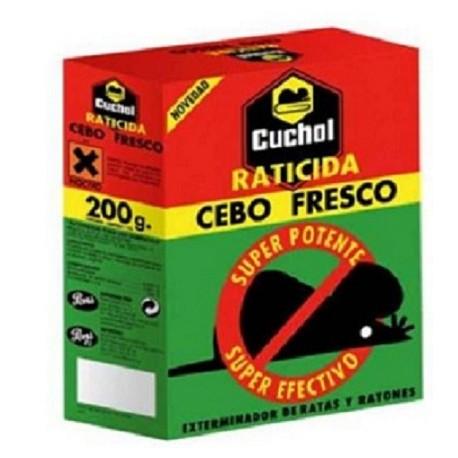 RATICIDA CUCHOL CEBO FRESCO 200GR