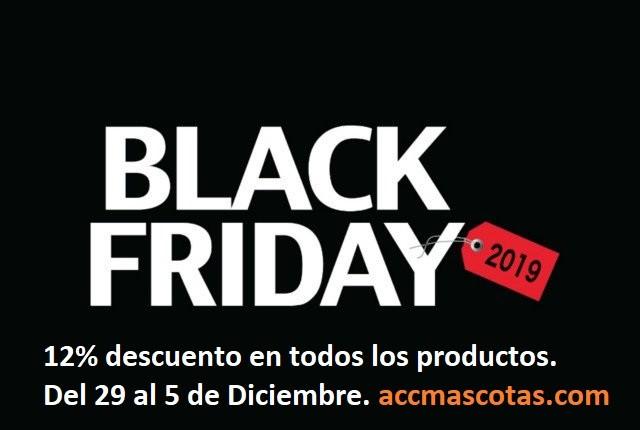 BLACK FRIDAY 2019. 12 % de descuento en todos los productos